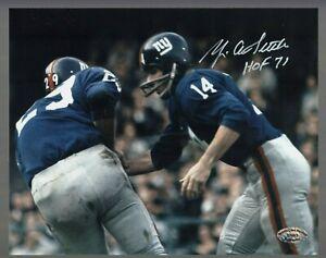 Y-A-Tittle-Signed-Auto-Color-Giants-8x10-Photo-W-HOF-71-SCH-Auth-27693-56