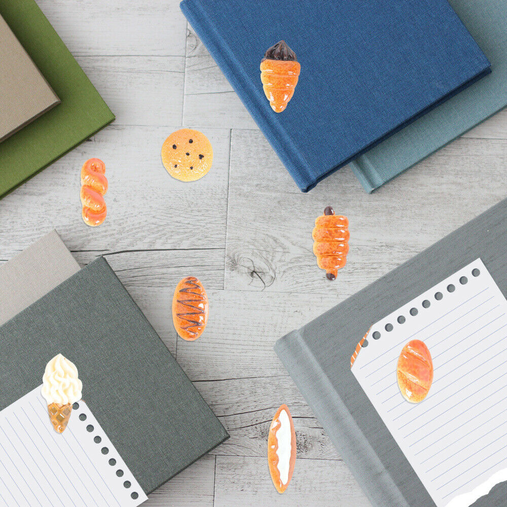 18pcs Case Charm Resin Bread Adorable Craft Making Accessories