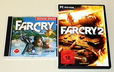2 PC SPIELE SET - FAR CRY 1 & 2 - UNCUT