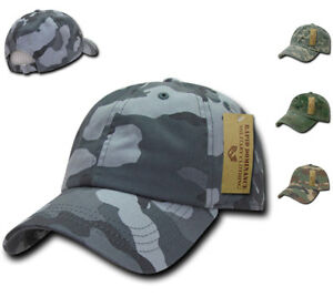 1fe5fe75d Details about Relaxed Cotton Military Vintage Washed Polo Camo Camouflage  Baseball Hats Caps