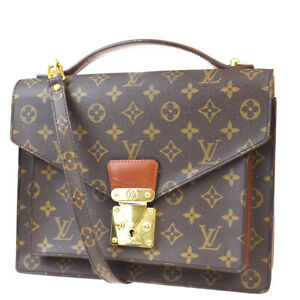 Auth-LOUIS-VUITTON-Monceau-2Way-Shoulder-Hand-Bag-Monogram-Brown-M51185-20MC397