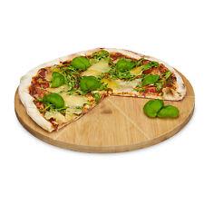 Pizzateller Bambus 33 cm rund als Pizzaschneidebrett, Pizzabrett, Holzteller