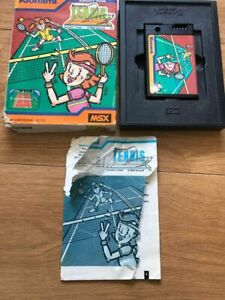 MSX-Game-Tennnis-Konami-1984-ROM-Cartridge-RC720-Boxed-with-Manual