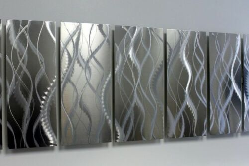 Statements2000 Abstract Silver Metal Wall Art Panels Jon Allen Faulty Perfection