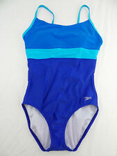 Speedo Women's 1 Piece Swimming Suit Atlantic Blue US Size 12 NWT