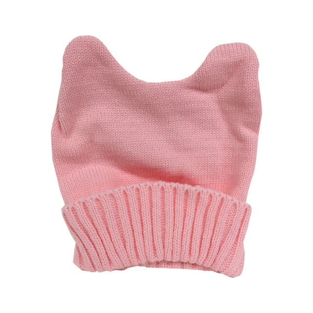 7bb0b9fe181 Knit Pink Pussy Hat Beanie With Ears Women s March Knitted Cap Cat Movement  Purr