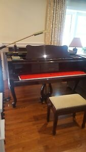 Image Is Loading Baby Grand Piano Petrof 5ft 8in 2004 Walnut