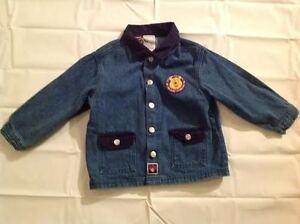 DISNEY POOH 100 ACRE Collection Denim Jacket Size 3T