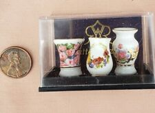 Vase /& Flower Porcelain 1.381//6 miniature dollhouse furniture 1//12 scale Reutter