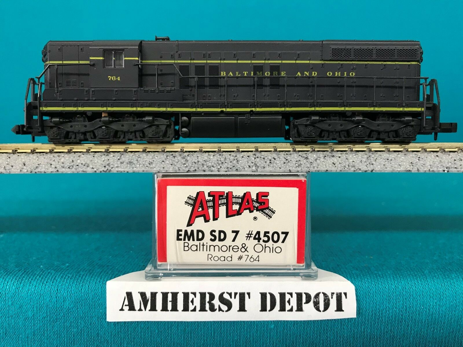 4507 Baltimore & Ohio Atlas N Scale Kato Drive SD-7 Engine NIB