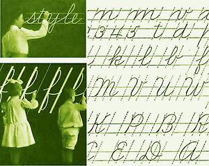 Vintage Cursive Handwriting penmanship teacher guide CD grade ...