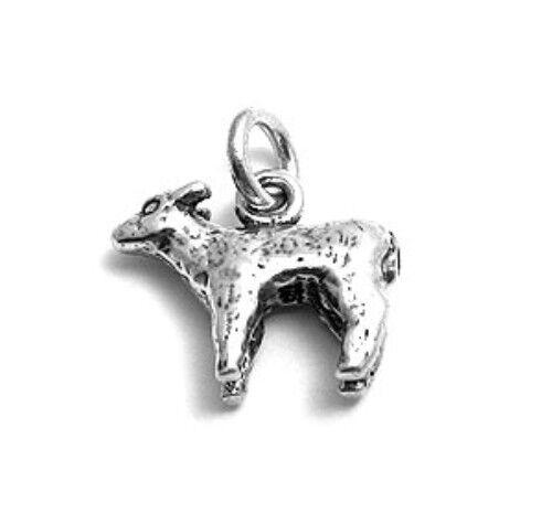925 Sterling Silver 3D Sheep Lamb Charm