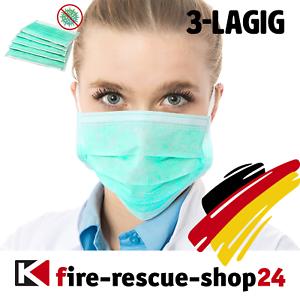 5-1000 Stk. Mundschutz Maske 3-lagig Einweg Schutzmaske Mundschutzmask