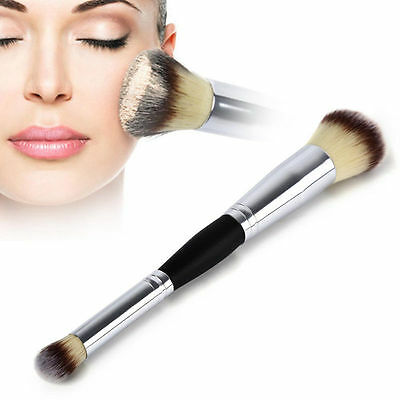 Double End Cosmetic Contour Face Blush Eyeshadow Powder Foundation Makeup Brush