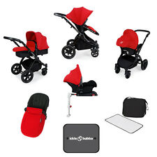 Ickle Bubba Stomp V3 All In One Travel System With Isofix - Red/Black - NEW