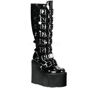 DEMONIA-SWING-815-Womens-Punk-Gothic-Buckle-Strap-Platform-Knee-High-Boots-Shoes