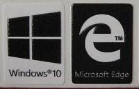 Windows 10 + Microsoft Edge Sticker Logo For Laptop Desktop-black