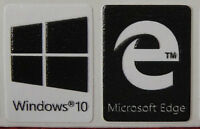 Windows 10 + Microsoft Edge Sticker Logo For Laptop Desktop-black