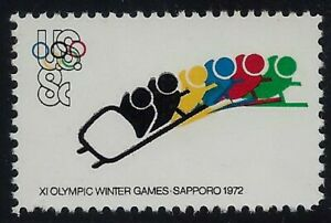 """1461a - 8c Tagging Omitted Error / EFO Olympic """"Bobsledding"""" Mint NH"""