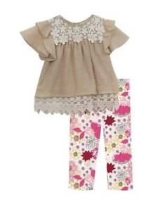Rare-Editions-Taupe-Guaze-Ivory-Lace-Floral-Legging-Set-2T-3T-4T