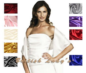 Satin-Bridal-Bridesmaid-Wedding-Prom-Shawl-Stole-Wrap-Bolero-Pashmina-Cover-Up