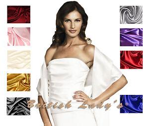 Satin-Bridal-Bridesmaid-Wedding-Prom-Shawl-Stole-Wrap-Bolero-Pashmina-Cover-Up