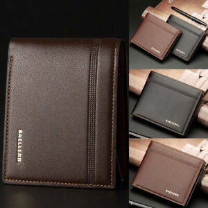 Fashion Men/'s Bifold Leather Wallet ID Credit Card Holder Billfold Purse Clutch