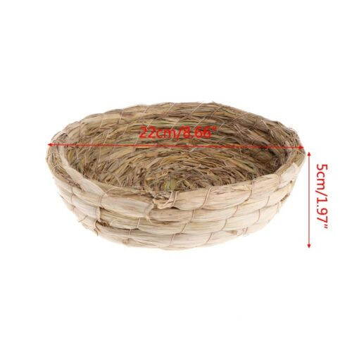 Pigeon Nest Woven Natural Straw Rabbit Guinea Pigs Flat Warm House Handmade Cage
