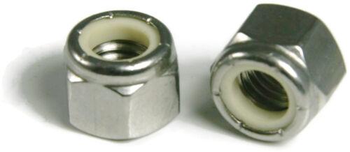 Qty 50 Stainless Steel Nylon Insert Lock Hex Nut UNC 1//4-20