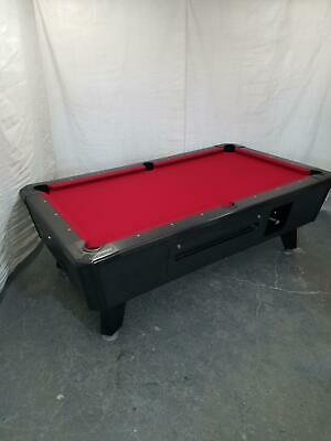 7' VALLEY COMMERCIAL COIN-OP POOL TABLE MODEL Black Cat NEW RED