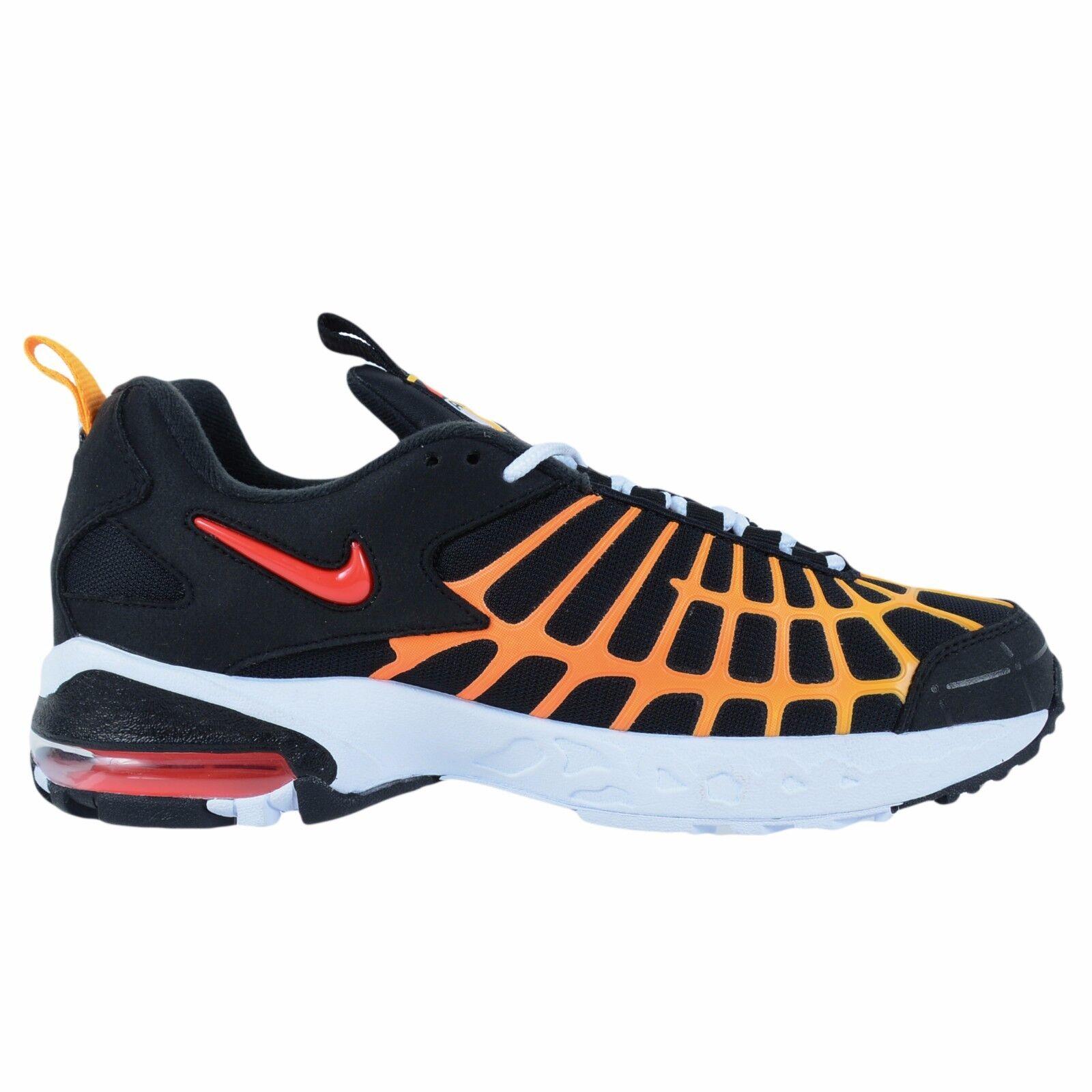 Taglia 12 nike uomini air max 120 formazione scarpe 819857 003 nero, bianco, rosso arancione