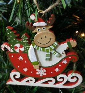 Addobbo-natalizio-per-albero-natale-in-legno-Alce-su-slitta-decorazione