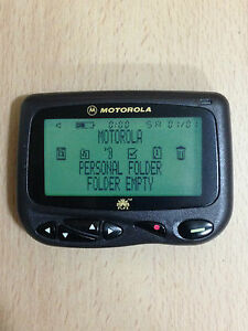 MOTOROLA-CP1250-ALPHANUMERIC-FLEX-PAGER-ZOOM-FROM-8-TO-4-LINE-DISPLAY