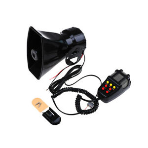 Details about 12V loud air horn siren for car boat van truck 7 sounds PA  system + mic 115db FG