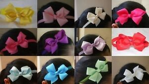 BABY-TODDLER-GIRL-HAIR-HEAD-BAND-RIBBON-BOW-GIFT