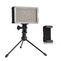 Pergear 216 led High CRI Sensor Video On Camera Light +Mini DesktoP Tripod +Clip