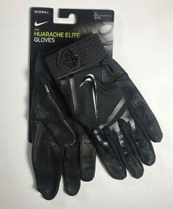 Details about Nike Huarache Elite Batting Gloves Black Size L