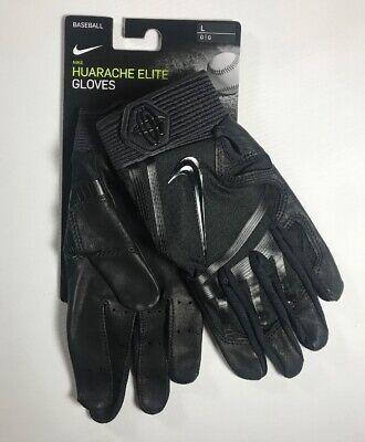 Nike Huarache Elite Batting Gloves Black Size L   eBay