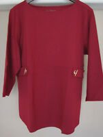 Chico's Gold Grommet Red Ponte Top Size 4 20 22 2xl 3xl