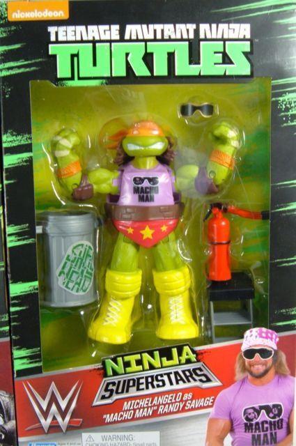 Michelangelo as Macho Man Randy Savage Teenage Mutant Ninja Turtles WWE Figure