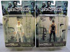 The Matrix Film Trinity & Switch Set Of 2 Action Figures 1999 Warner Bros New