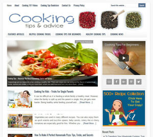 COOKING-TIPS-turnkey-website-business-for-sale-w-AUTOMATIC-CONTENT-UPDATES