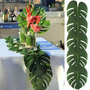 6-12-Green-Jungle-Artificial-Tropical-Palm-Leaf-Hawaiian-Beach-Party-Table-Decor