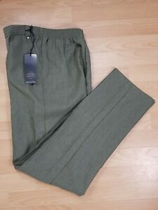 M-amp-S-Ladies-Khaki-Green-Tapered-Tailored-Trousers-Size-10-BNWT-Work-Smart-Career
