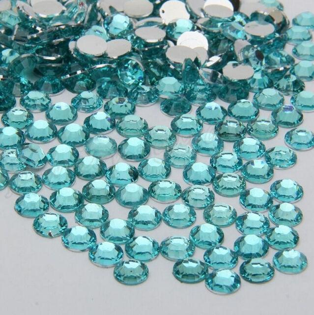 1000pcs Facets Resin Rhinestone Gem Flat Back Crystal AB Beads 2mm 10Colors DIY
