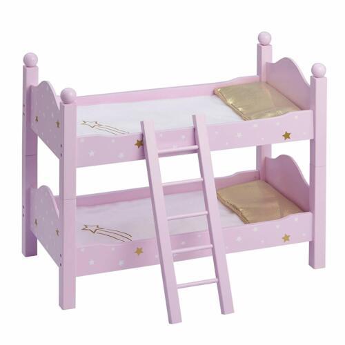 "Olivia/'S Little World 18/"" Doll Furniture Bunk Bed 20/"" X 10.625/"" X 17.12 Purple"