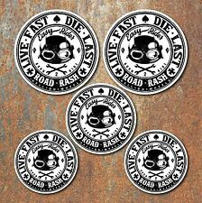 Live Fast Die Last Biker Laminated Sticker set Motorbike Motorcycle Rocker decal