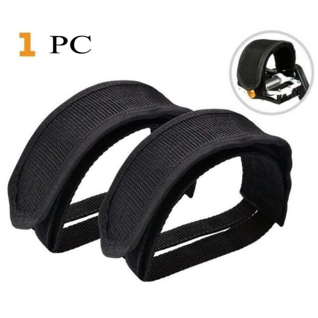 Gear Anti-slip Bike Bicycle Toe Clip Pedal Straps Belt Adhesive Strap