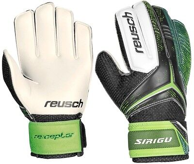 Guanti Portiere Calcio Junior Reusch Re:ceptor Receptor Black Green Sirigu