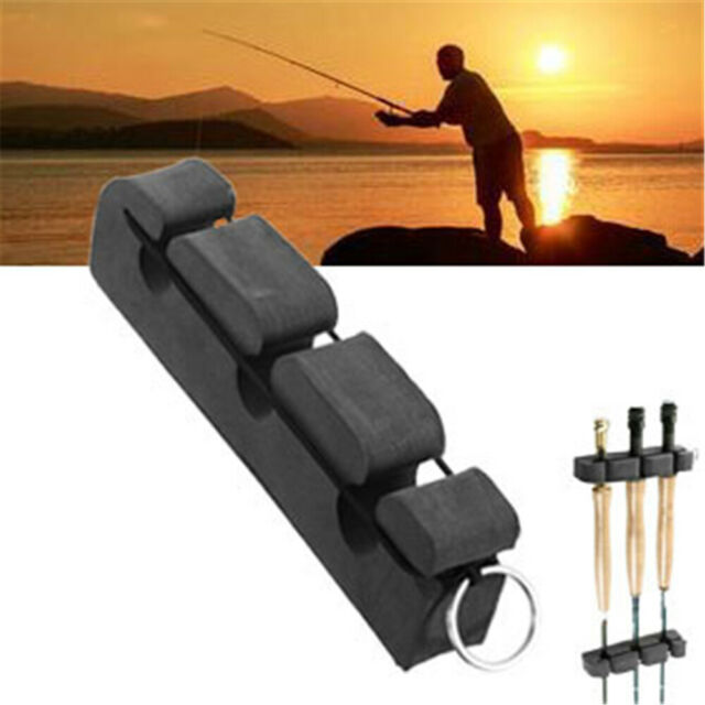 Magnetic Back Car Rod Holder Rack Tool Stand Black Outdoor Fly Fishing Tackle.